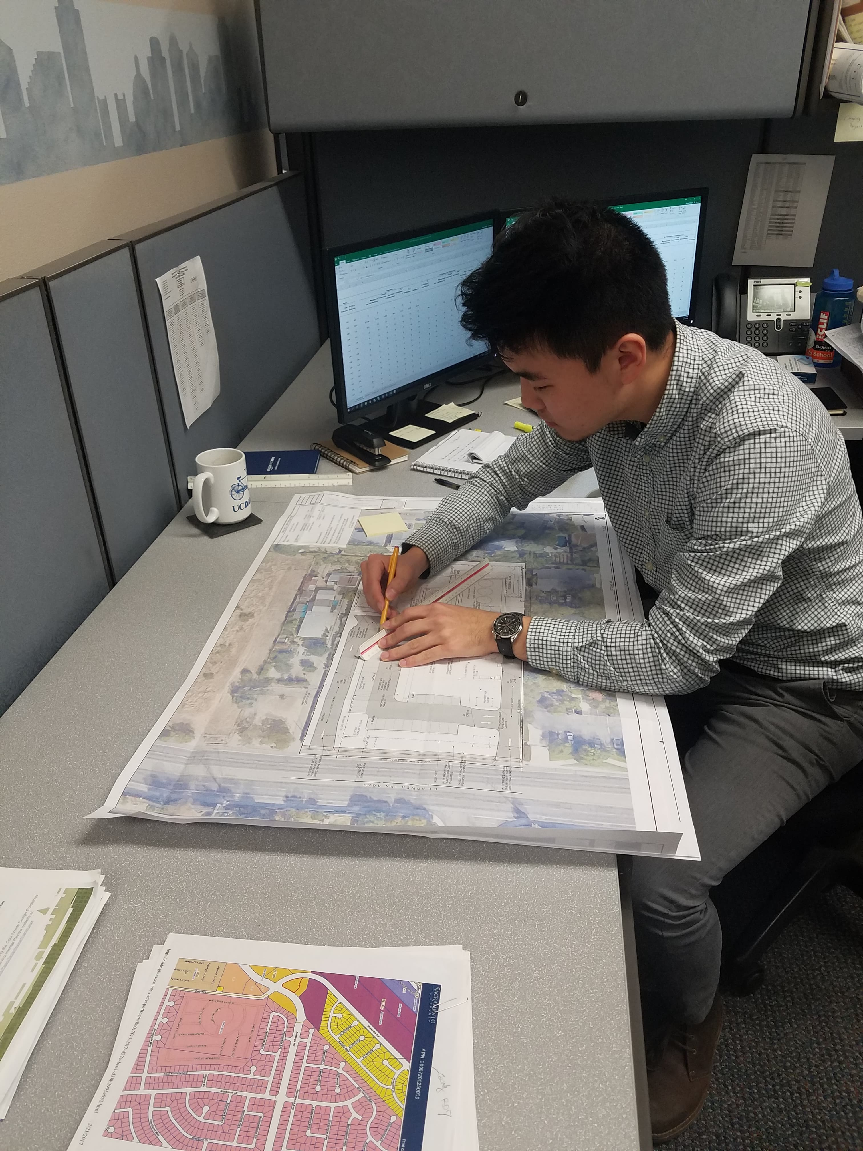Bilegt Baatar performing internship duties at the Sacramento County Planning and Environmental Review