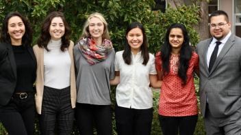 AEP at UCD officers Amanda, Emily, Bryn, Tiffany, Priya and Michael