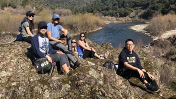 AEP at UCD members on a hike for their February event