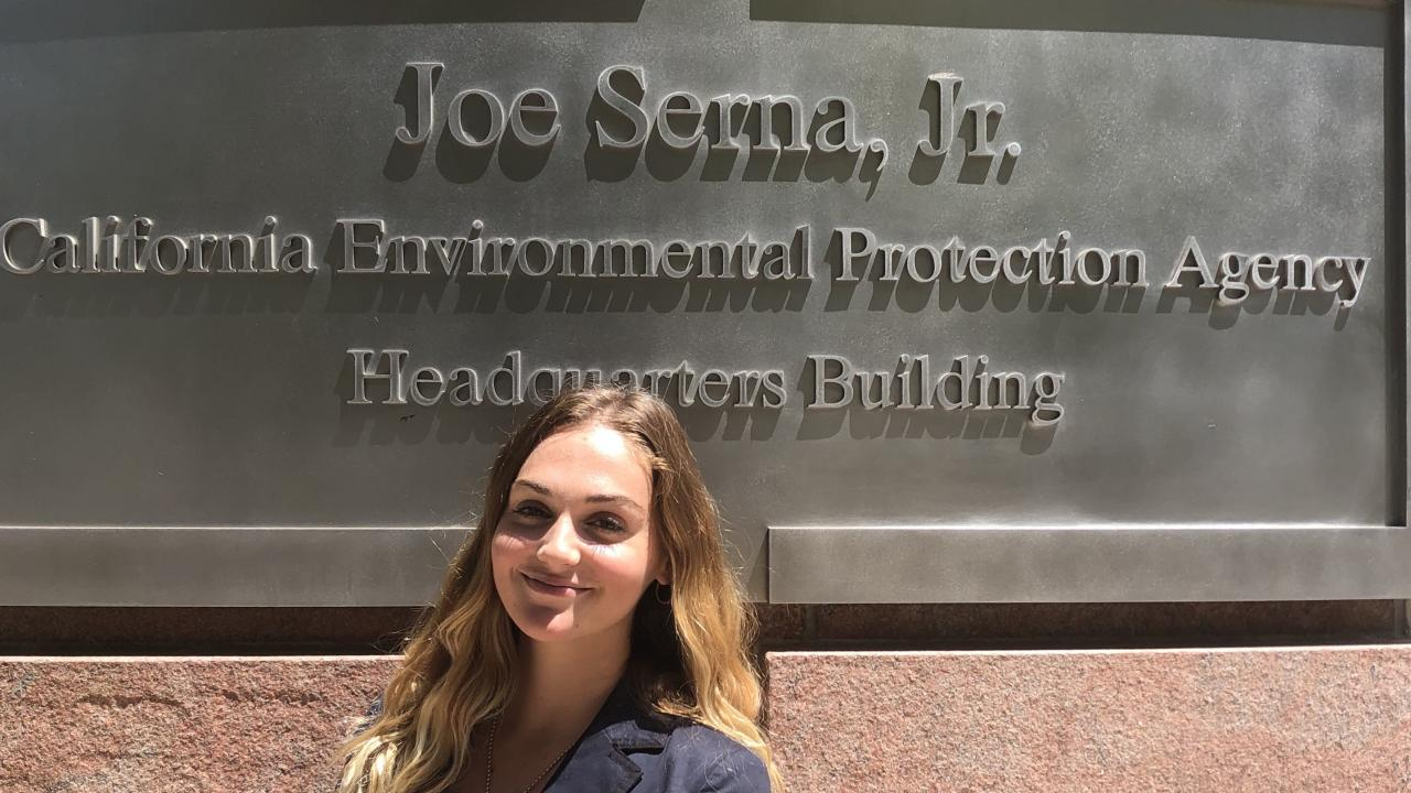 Environmental Policy & Management student Kassidy