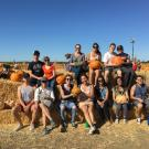 Environmental Policy & Management students at the pumpkin patch.