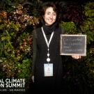 EPM student, Emily Zakowski, at the Global Climate Action Summit.