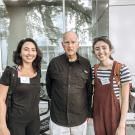 Environmental Policy & Management students Amanda DeMarco and Emily Zakowski featured with former Governor of California, Jerry Brown